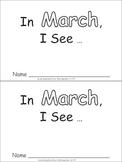 In March Emergent Reader Preschool Kindergarten Months of