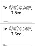 In October Emergent Reader Preschool Kindergarten Months o