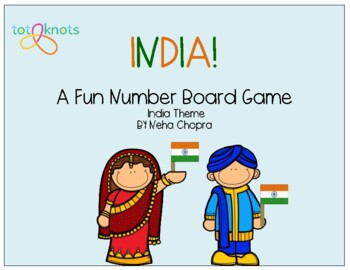 India Number Board Game Freebie!