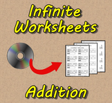 Infinite Worksheets: Addition  (Math Worksheet Generator S