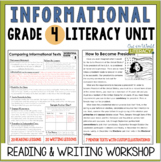 Informational Reading & Writing Unit: Grade 4...40 Lessons