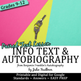 Ben Franklin's Autobiography Paired Text and ModernTask: T