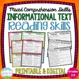 Informational Text Reading Skills Task Cards { Comprehensi