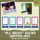 """All About"" Books Writing Unit with Checklists (Advanced)"