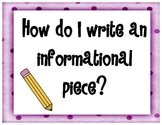 Informational Writing - Classroom Posters