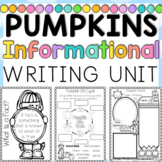 Informational Writing Pumpkin Themed First and Second Grad