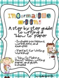 Informative Writing: How to Make a Donut & A Step by Step