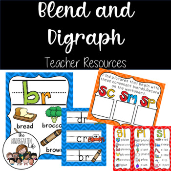 Digraphs & Initial Blends: Teacher Resource and Centers Pack