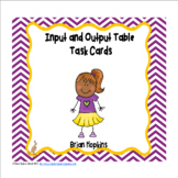 Input Output Table Task Cards