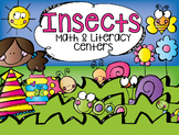 Insect Math and Literacy Centers for Kindergarten (Bundle)