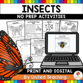 Insects No Prep Activities
