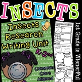 """Insects Writing """"Research"""" Unit ~Informational Text (Non-F"""