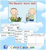 Insects and Mini Beasts Word Wall - 8 pages