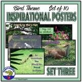 Inspirational Posters - Bird Theme Set 3