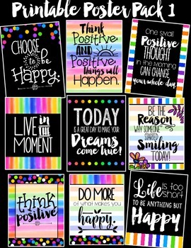 Inspirational Printable Poster Pack #1 {Creative Paper Collection}