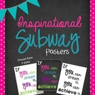 Inspirational Subway Posters {Freebie}