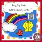 FREE FOR FOLLOWERS Listening Center-Rain Stories QR Readin