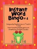 Instant Word Bingo #4