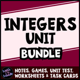 Integer Bundle - Includes Games, Task Cards, and Different