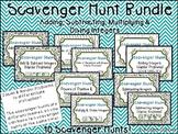 Integer Operations Scavenger Hunts - 10 Pack