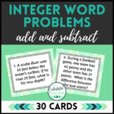 Integer Word Problem Task Cards