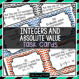 Integers & Absolute Value: 30 Task Cards (QR Codes Optional!)