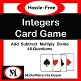 Integers Free - Add, Subtract, Multiply, Divide 48 Questio