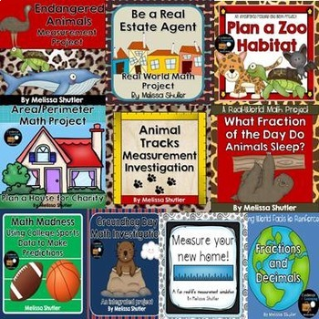 Integrated Math Projects Bundle Grades 3-5