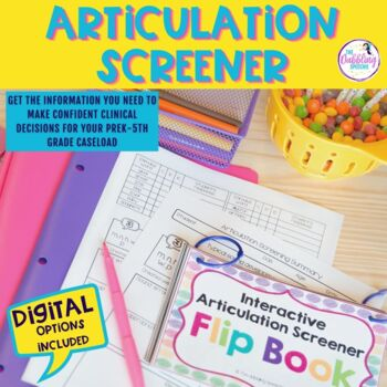 Interactive Articulation Screener Flip Book With Editable Slides & Forms