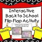 FREEBIE! Interactive Back to School Flip-Flap Activity
