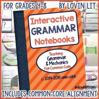 Interactive Grammar Notebooks ~ Grammar & Mechanics for Common Core Grades 4-8