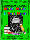 Word Work: Interactive Journal Printables