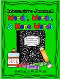 Word Work: Interactive Journal Printables