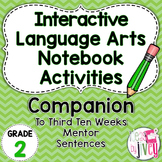 Interactive Language Arts Notebook for (Grade 2) THIRD Men