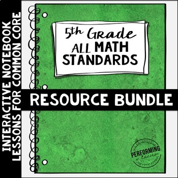 Interactive Math Notebook ALL 5th Grade Common Core Standards ENTIRE YEAR