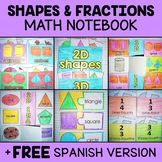 Common Core Interactive Math Notebook - Shapes & Fractions