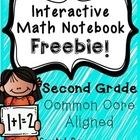 Interactive Math Notebook - Second Grade FREEBIE!