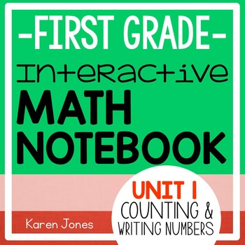 Interactive Math Notebook for 1st grade {Unit 1: Counting and Writing Numbers}