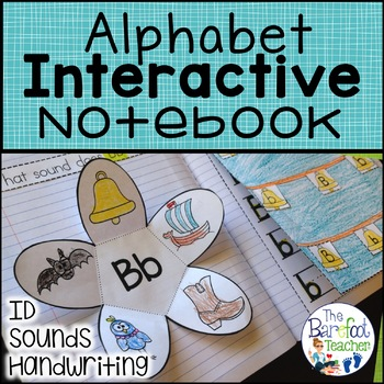 Interactive Notebook {Alphabet} Letter ID, Sounds, Handwriting - Complete Set