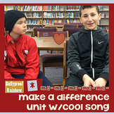 CC Kindness: make a difference interactive notebook, cool song
