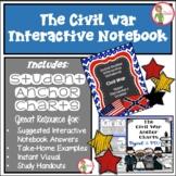 Interactive Notebook / Journal - THE CIVIL WAR - Social St