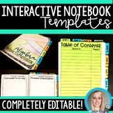 Interactive Notebook Organization Templates {Editable}