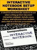 Interactive Notebook Setup Worksheet