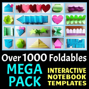 Interactive Notebook Templates - Easy to Cut - MEGA PACK - Over 1000 + Templates