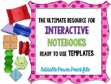 Interactive Notebook - foldable-flip flap templates {editable}