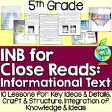 Informational Text Interactive Notebook: 5th Grade