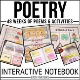 Interactive Poetry Notebook Bundle {48 Weeks of K-2 Poems