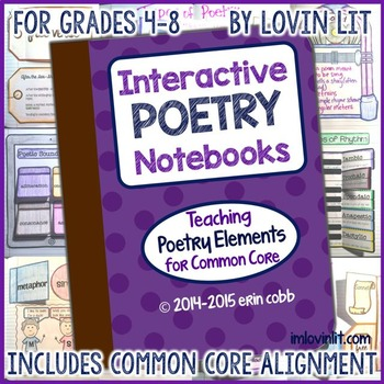 Interactive Poetry Notebooks: Poetry Elements for Common Core Grades 4-8+
