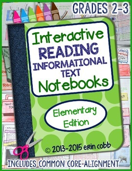 Interactive Reading Informational Text Notebooks *Elementary Edition*