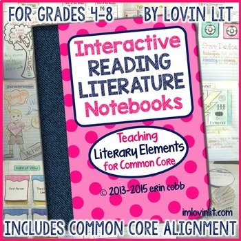 Interactive Reading Literature Notebooks ~ Literary Elements for Common Core 4-8